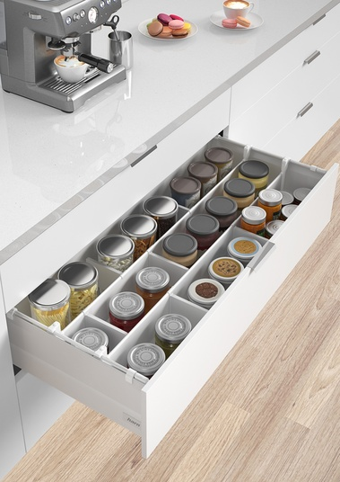 Lighting Basement Washroom Stairs: Harn Ritma Cube Soft-close Drawer System By Fit