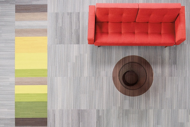 Shaw Contract Group's Color at Work nylon carpet tiles have a unique look that is achieved