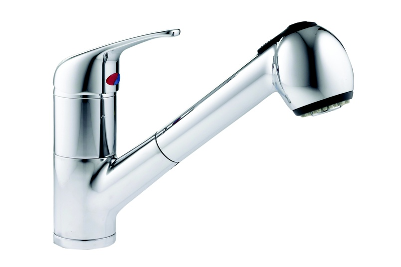 Edge pull-out spray mixer.