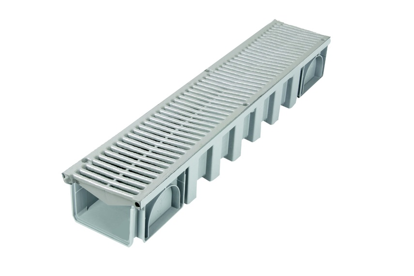 The 200mm water drainage system comes in three different grate options.