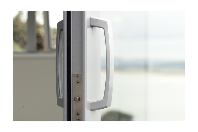 Malta® sliding door handle with powder coat finish