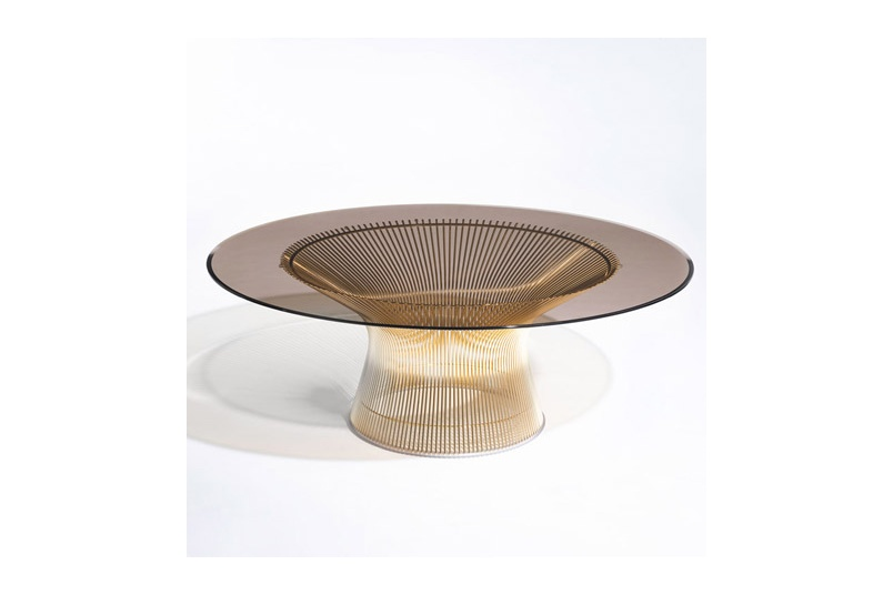 The Knoll Platner Gold Edition side table.