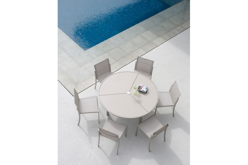 The O-zon series of chairs, tables and loungers offer a great way to enjoy the outdoors.