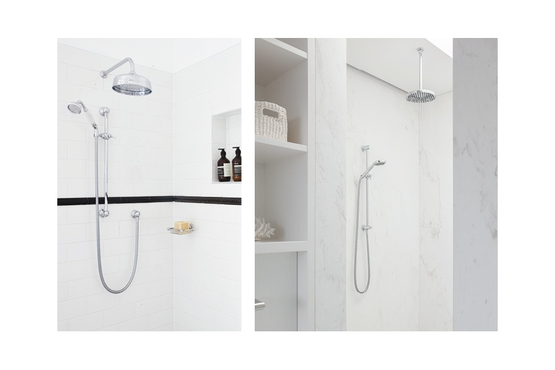 Perrin & Rowe offer both traditional and contemporary styling across the shower ranges