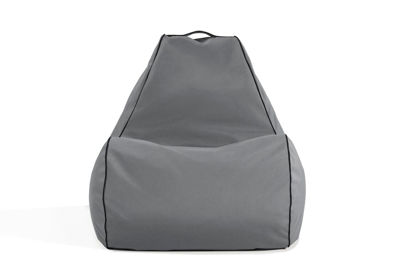 Tulum bean bag chair (outdoor/charcoal grey).