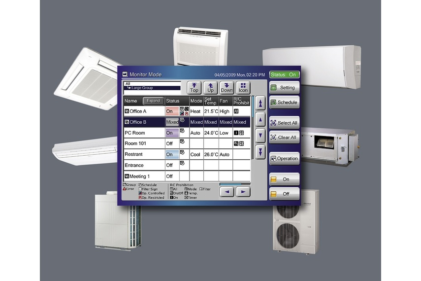 Central control systems for airconditioning