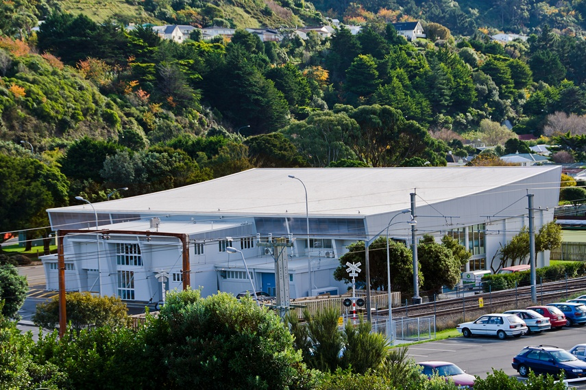 Tawa Pool, Wellington, using Kingspan's Top Dek roof panel.  Kingspan insulated roof panels provide building envelope solutions combining aesthetics, longevity and thermal insulation.