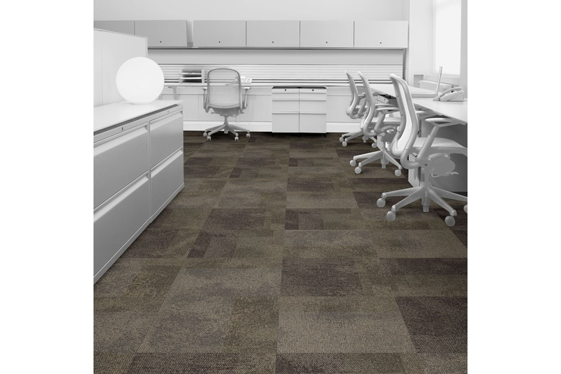 Interface Exposed carpet used in an open office.