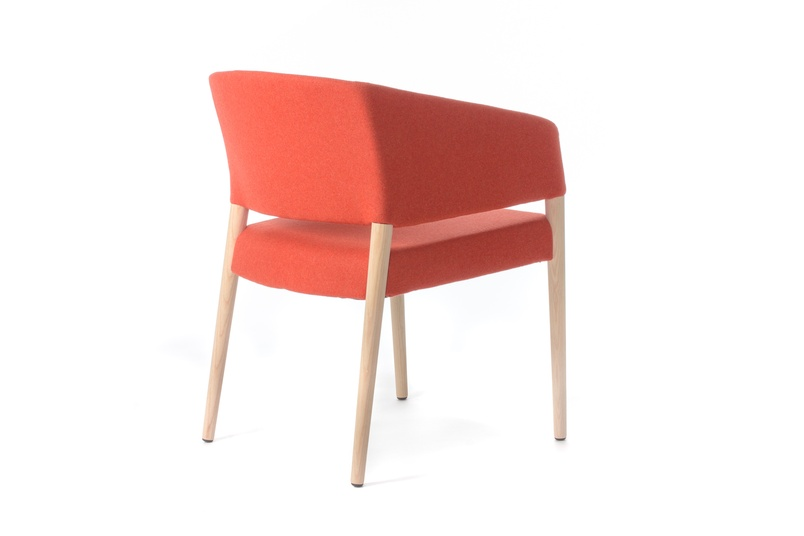Marcela chair in red.