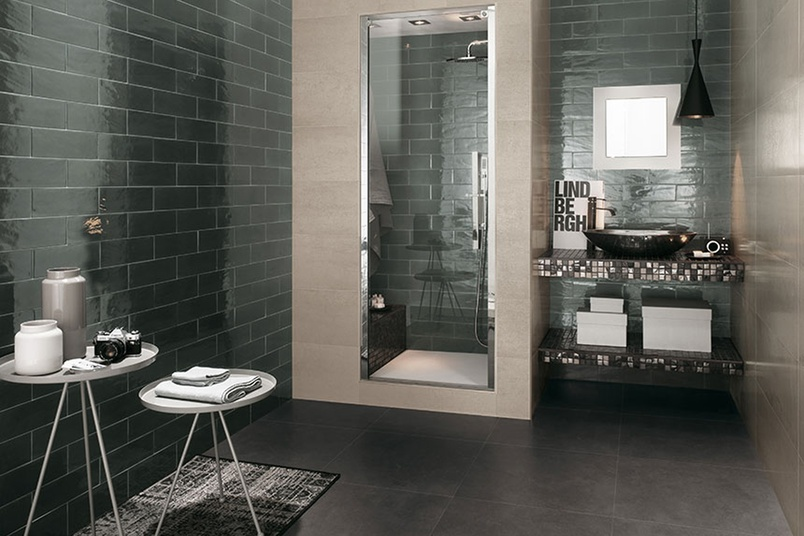 Manhattan smoke bathroom wall tiles