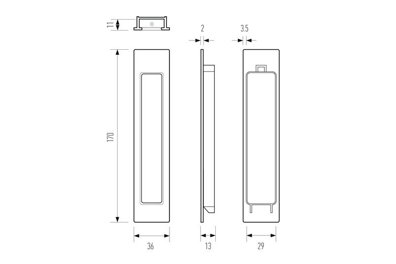 HB 660 flush pull - line drawing