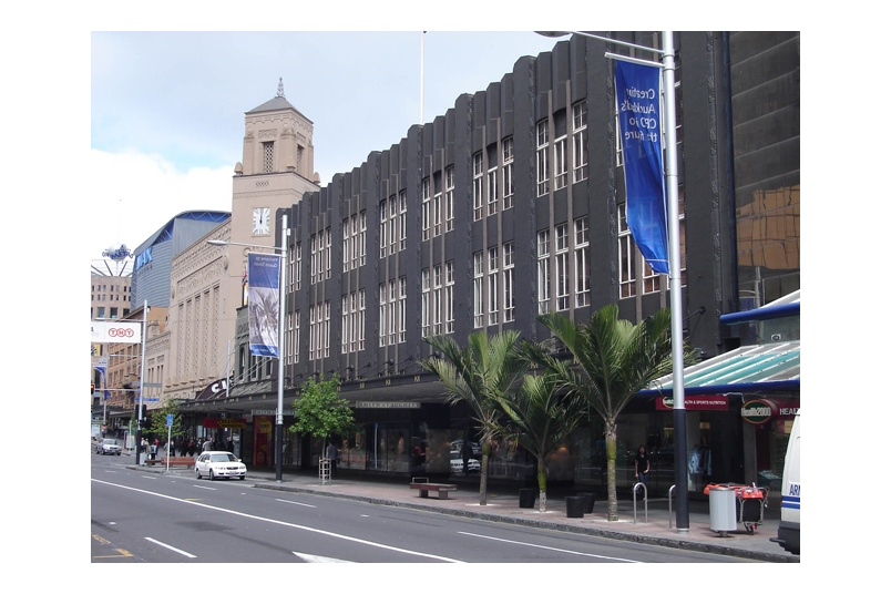 Planting of transplanted Nikau palms on Queen Street, Auckland