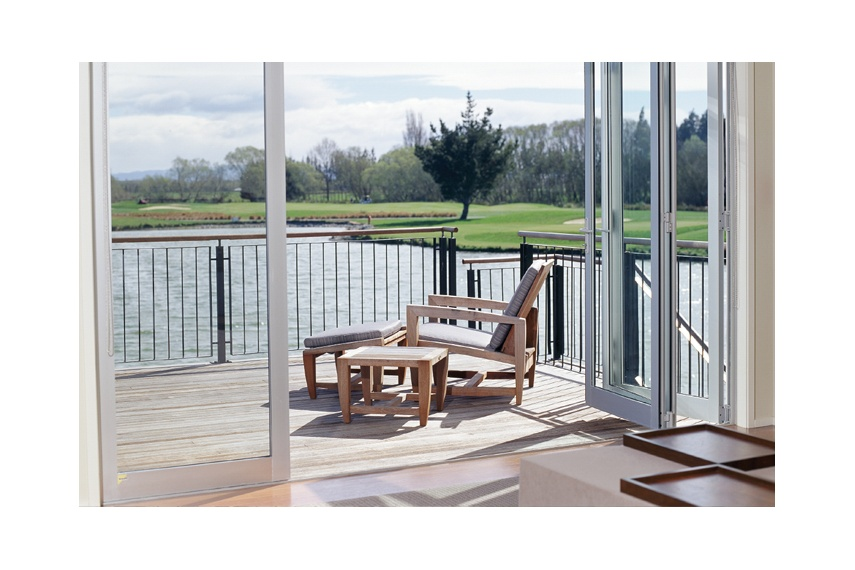 With biparting bifolds there is an option to open both sides or just one