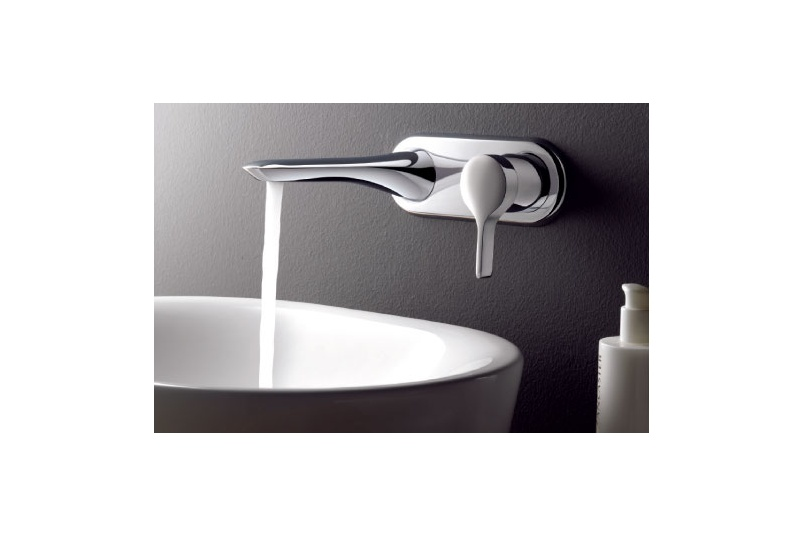 Melange concealed wall mounted basin mixer