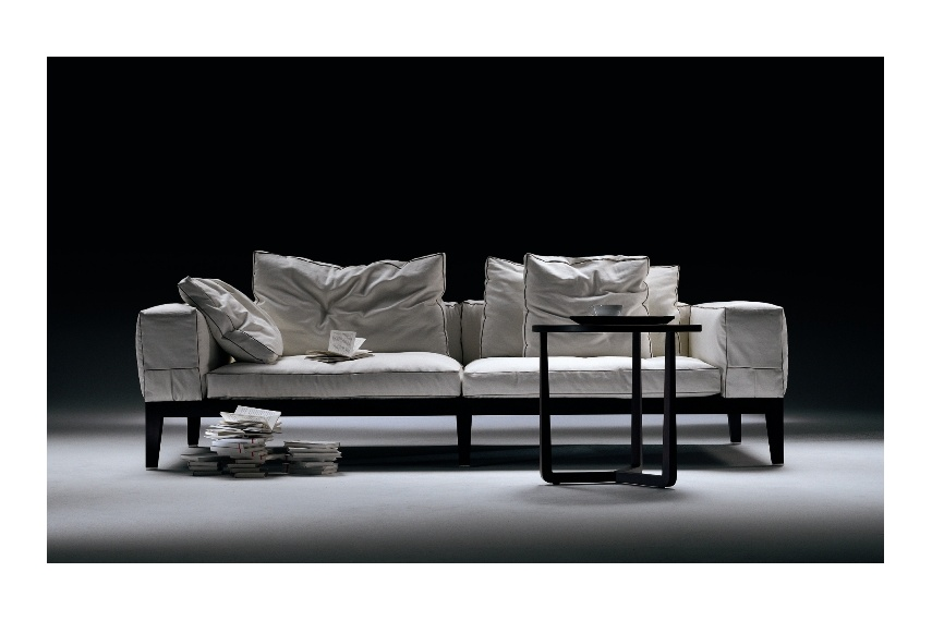 The Lifewood sofa designed by Antonio Citterio, removable covers are also available in a large range of fabrics or leather