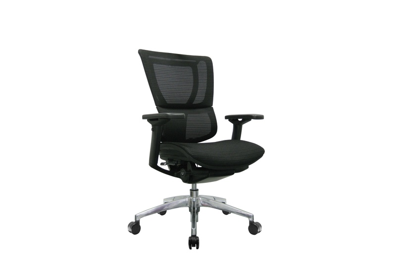 The iOO chair with black frame and no headrest