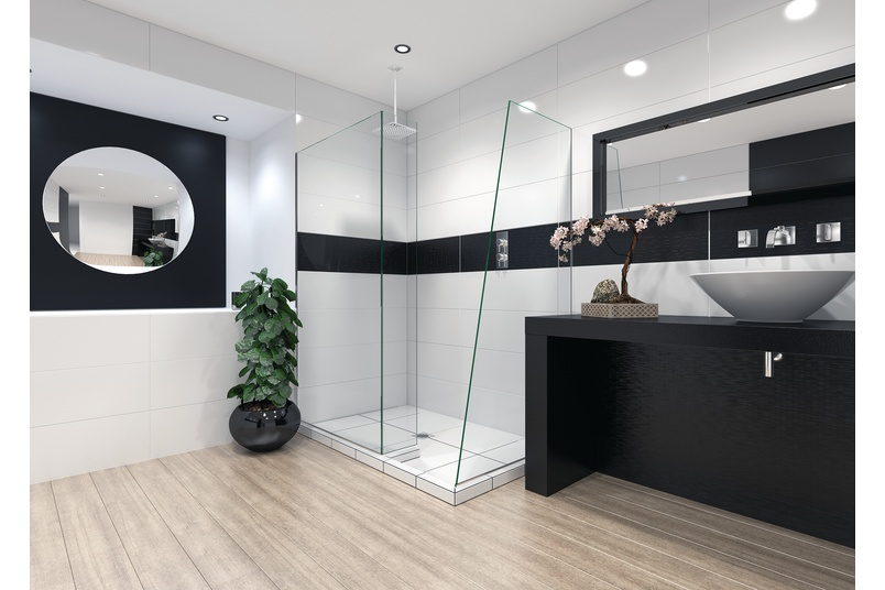Devon walk-in shower by Newline Group - Selector