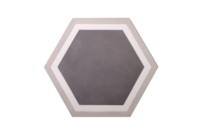 The Trim Hex encaustic tile by Gallery 4 is ideal for installing in new builds or for redesigning an existing space.