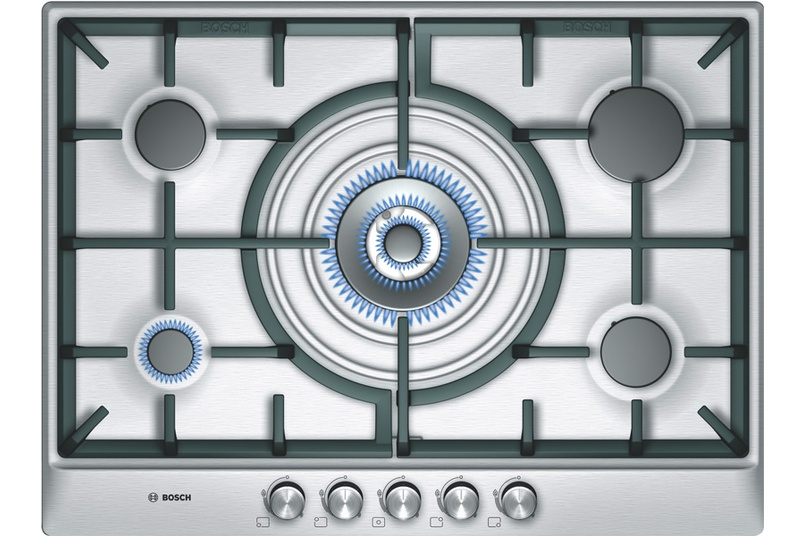 Stainless Steel 70cm gas cooktop.