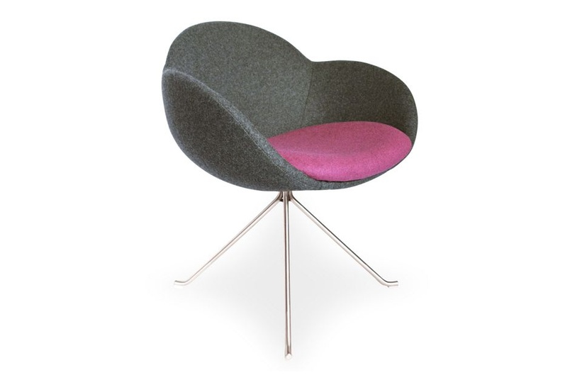The Bloom chair is available in customisable upholstery