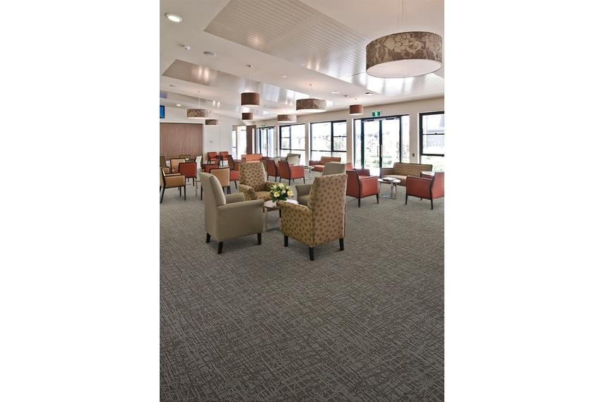 Essence carpet tile collection – Aged Care.