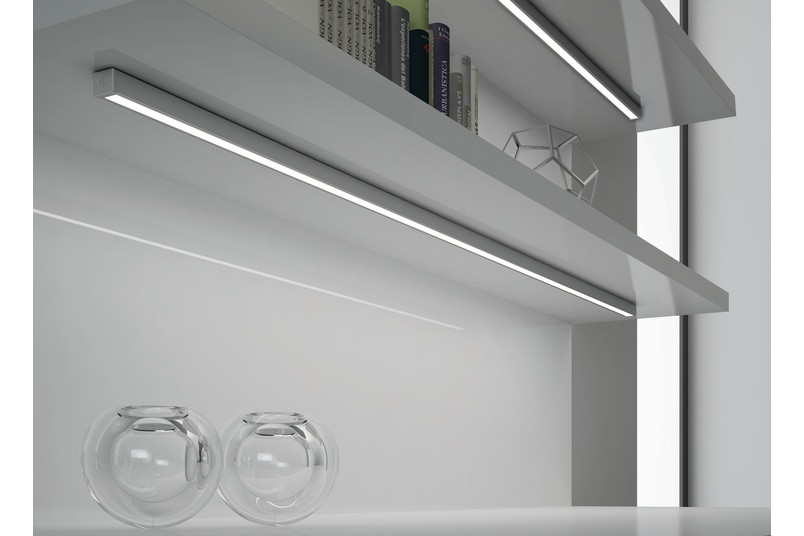 Domus Line Twig LED lighting profile for surface mounted installation.
