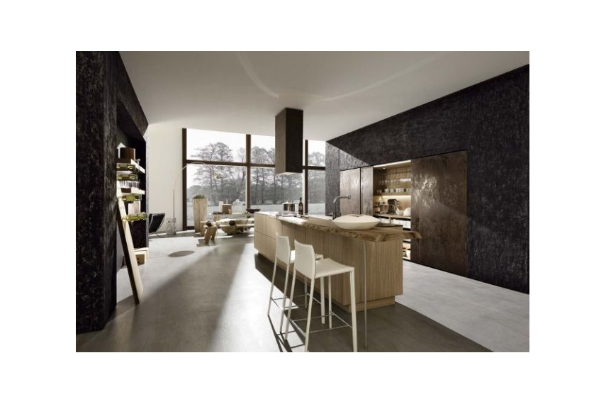 A contemporary Cult kitchen textured moody with