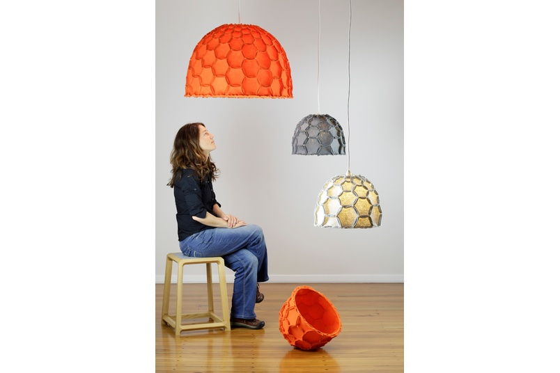 The Nectar Lampshade provides either a soft ambient light (Full Nectar), or a more direct light source (Half Nectar).
