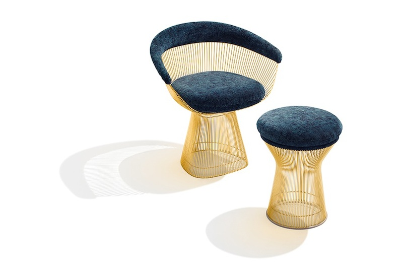 The elegant Knoll Platner Gold Edition chair.