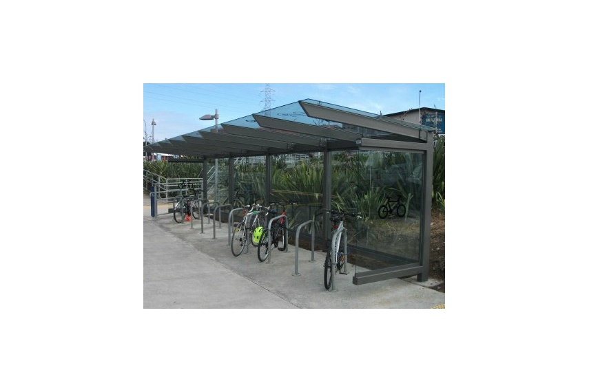 Bike shelter with Sheffield bike rails