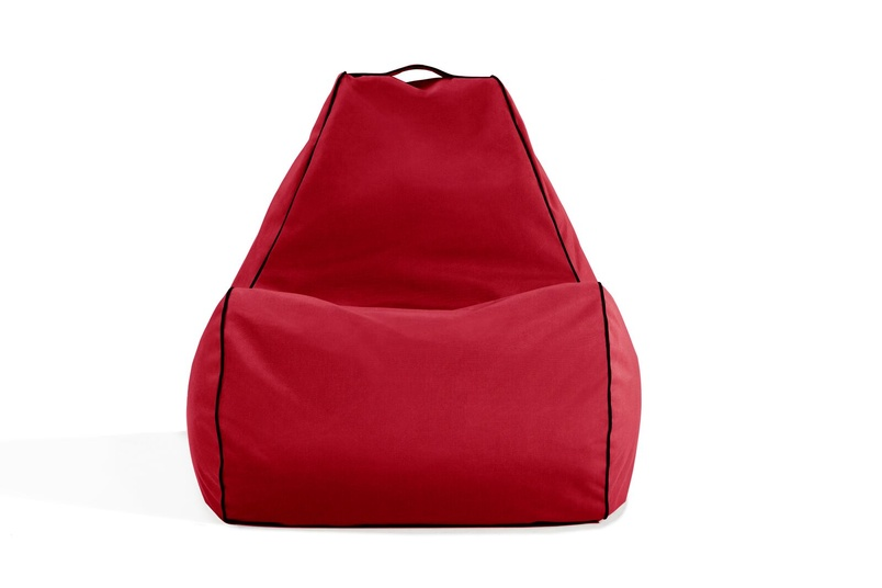Tulum bean bag chair (outdoor/jockey red).