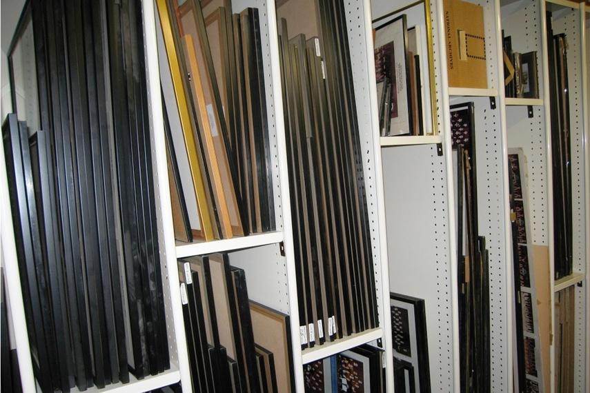 Framed artwork storage