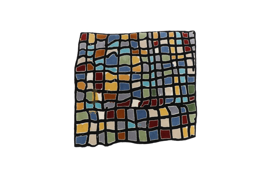 Dilana rugs - Martin Poppelwell 'Stained Glass Grid'.