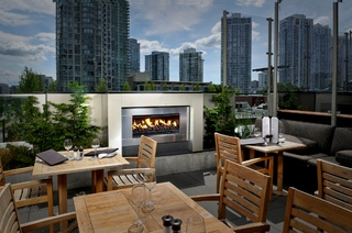 Enhance your outdoor patio with an outdoor fireplace