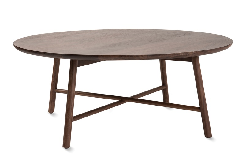 The Radial Coffee Table In Walnut.