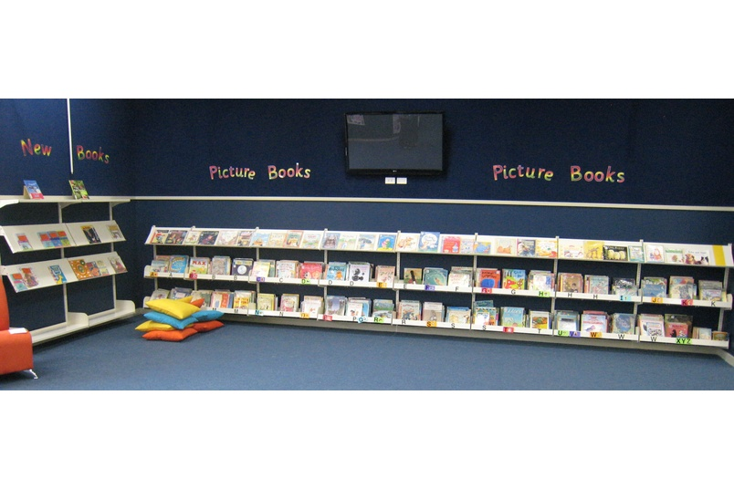 Wall channel - picture books.