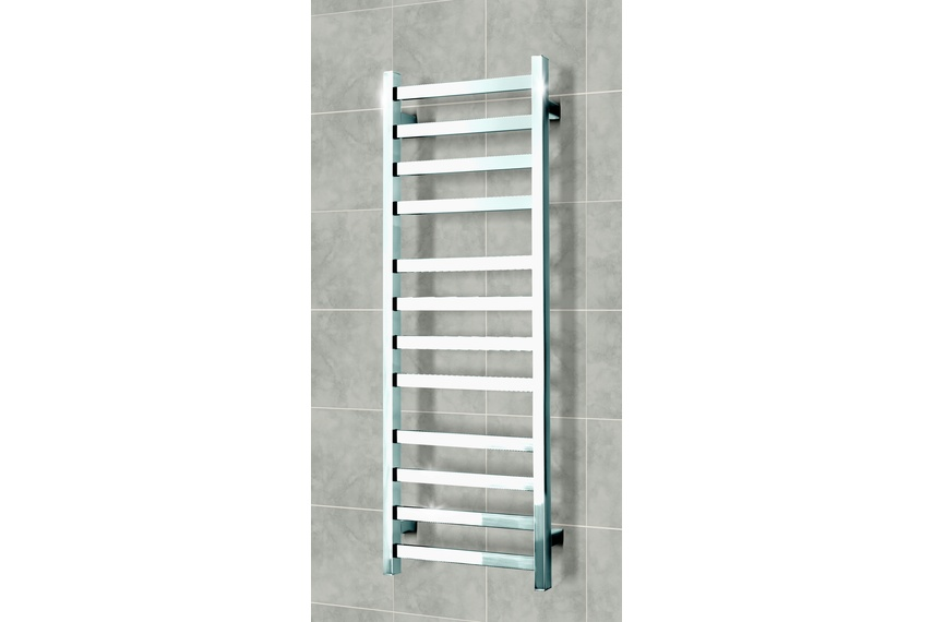 The Elan S and R series of stainless steel towel ladders are available in seven different size solutions to fit any wall space.