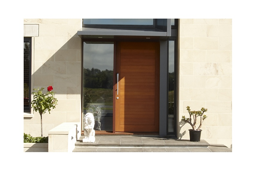 Timber entrance door with horizontal detail and sidelight  sc 1 st  Selector & Stellar Entrance doors by Altus Windows u2013 Selector