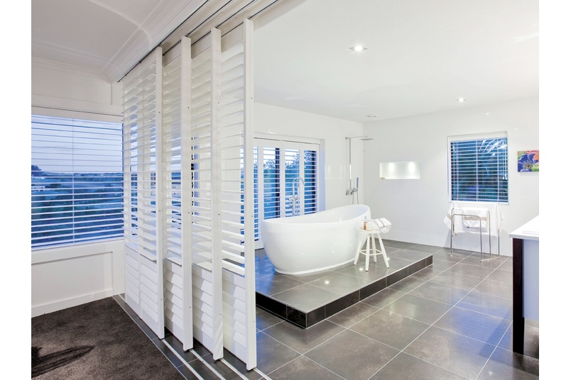 Interior Santa Fe Shutters - Bathroom