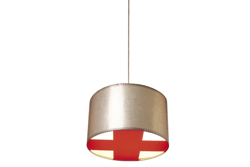 Zinc Plus perforated steel light shade