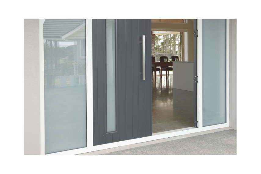 Entrance doors by altus windows selector double entrance doors with inset opaque glass and opaque sidelights planetlyrics Images