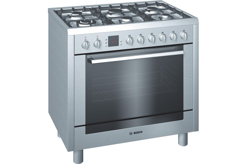 Stainless steel 90cm freestanding oven.