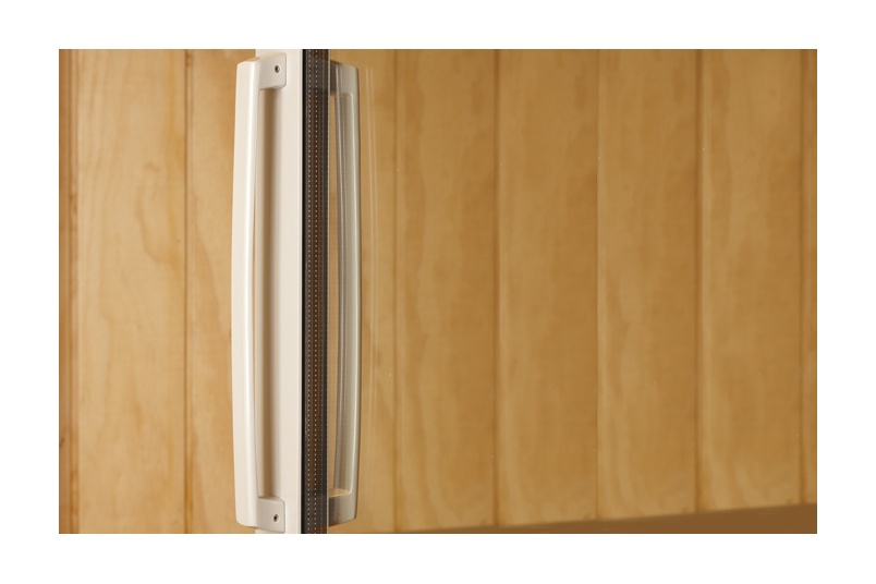 Malta® long sliding door handle with powder coat finish