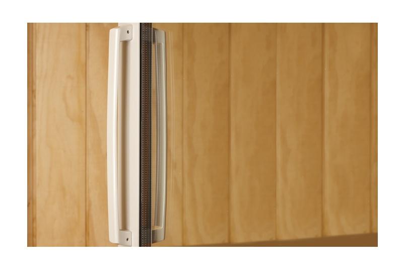 Malta® long sliding door handle with powder coat finish