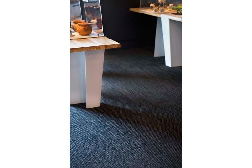 Equilibrium II carpet tile –shot between exhibits