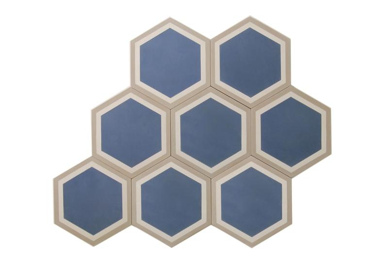 Trim Hex tiles create a geometric pattern.