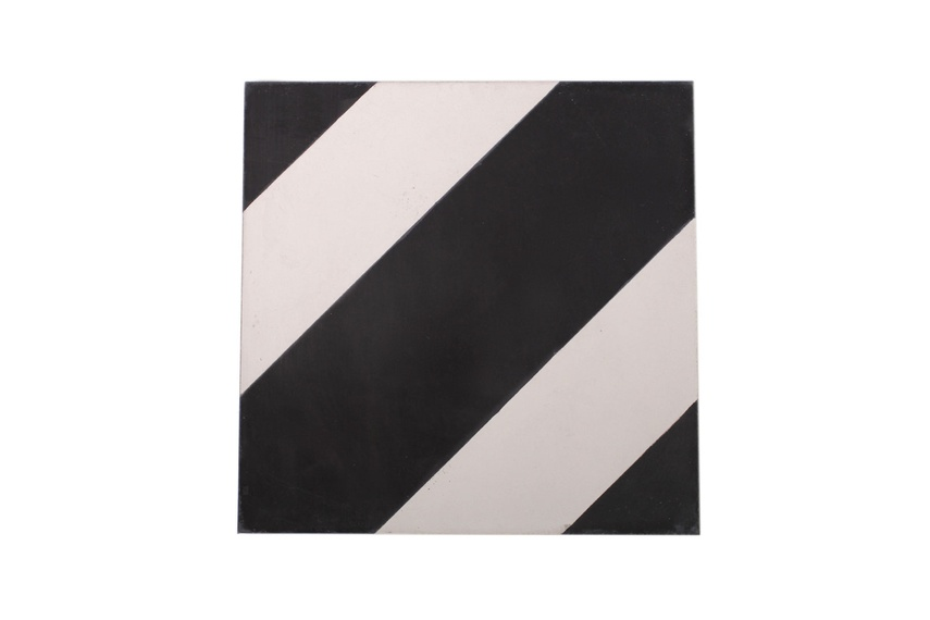 The Candycane encaustic tile by Gallery 4 is ideal for installing in new builds or for redesigning an existing space.
