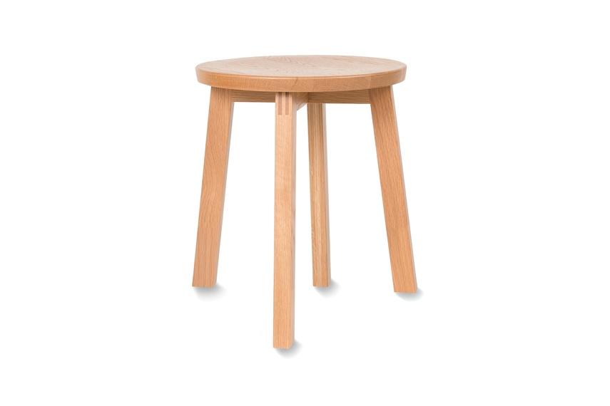 American oak low stool.