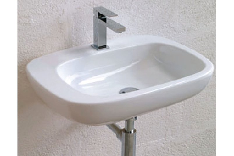 Dial white vessel basin