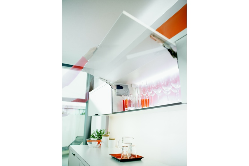 Aventos lifts can be manual or with Servo-Drive.